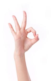 Ok gesto del segno della mano