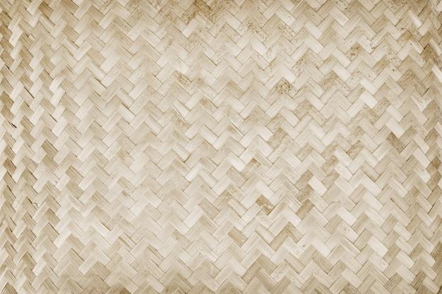 Vecchia tessitura di bambù, struttura tessuta della stuoia del rattan per fondo