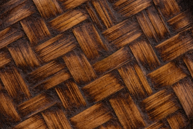 Vecchia struttura di legno di bambù e fondo del modello.