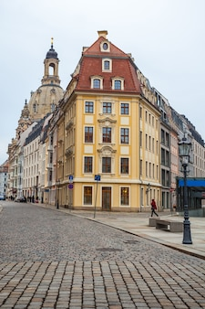Vecchie belle case a dresda, sassonia, germania.