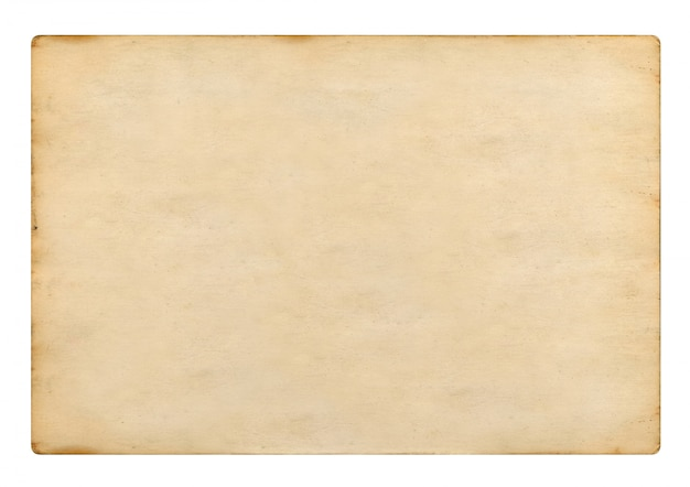 Vecchia carta d'annata in bianco su fondo bianco, rappresentazione 3d