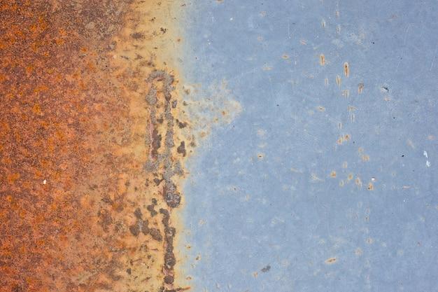 Vecchio fondo di struttura del metallo ruggine blu