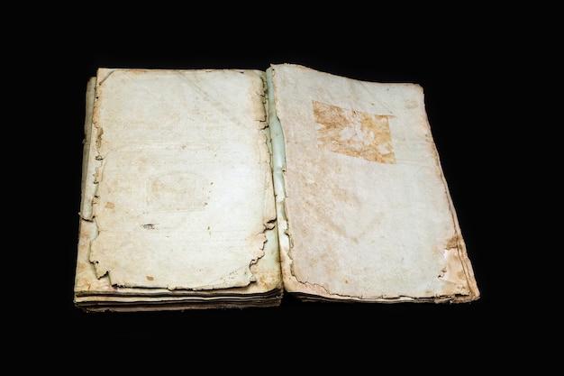 Vecchia copertina di libro texture vintage isolato, antico decrepito religioso manoscritto storico carta vincolante lettera stampo yiddish rarità