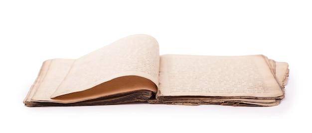 Vecchie pagine del libro con ombra. con tracciato di ritaglio.