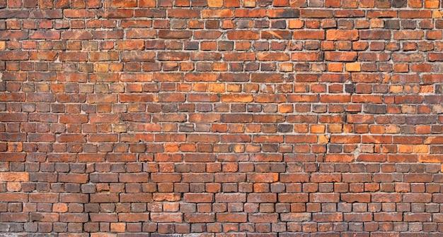 Vecchio fondo del muro di mattoni, struttura di muratura rossa.