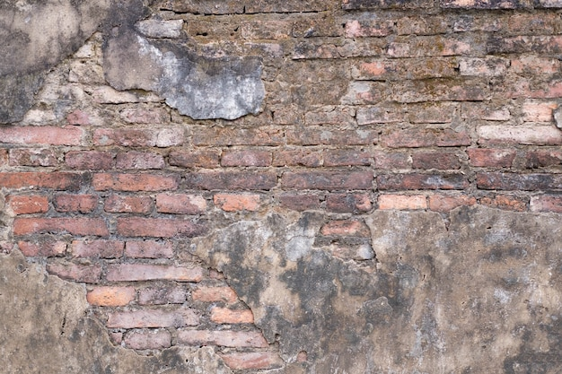 Vecchio fondo del muro di mattoni