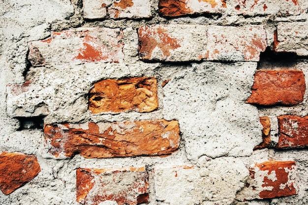Vecchio spazio della copia del fondo di lerciume del muro di mattoni per text