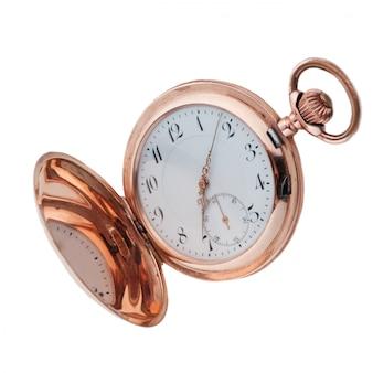 Vecchio orologio da tasca in bronzo