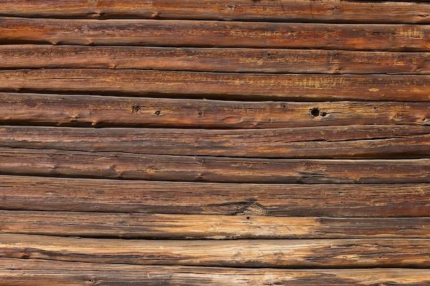 Vecchia struttura di fondo del pannello di parete in legno marrone