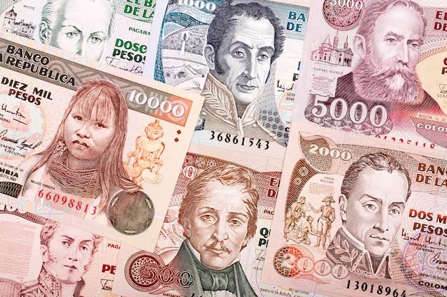 Vecchie banconote colombiane