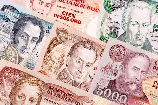 Vecchio peso colombiano, uno sfondo