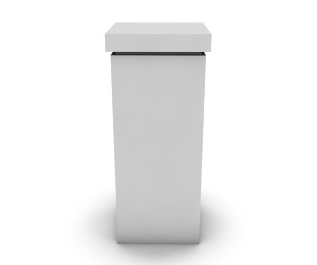 Le vecchie colonne sono in stile antico. illustrazione 3d realistica ad alta risoluzione