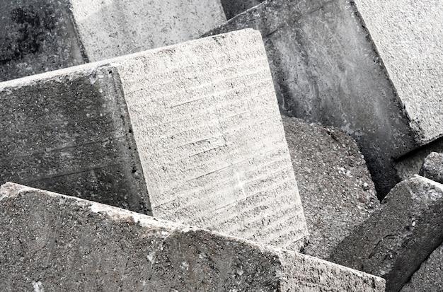Vecchia struttura del fondo della parete del blocco in calcestruzzo