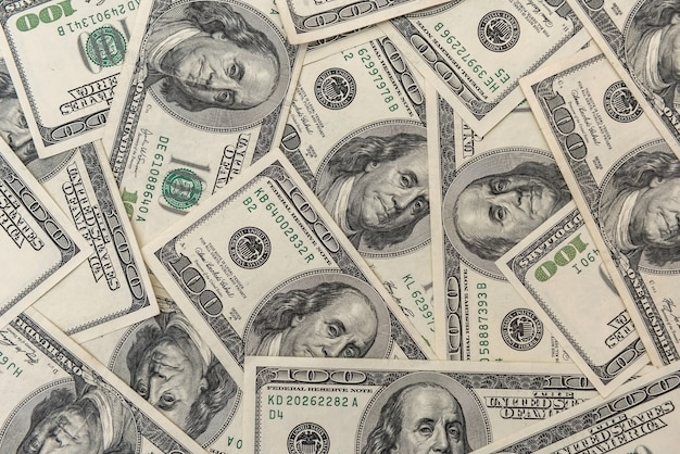 Vecchia banconota in dollari come sfondo per il design. concetto di finanza di ricchezza di valuta