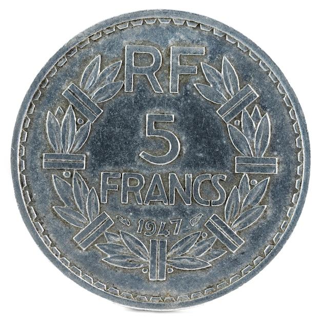 Vecchia moneta francese. franchi