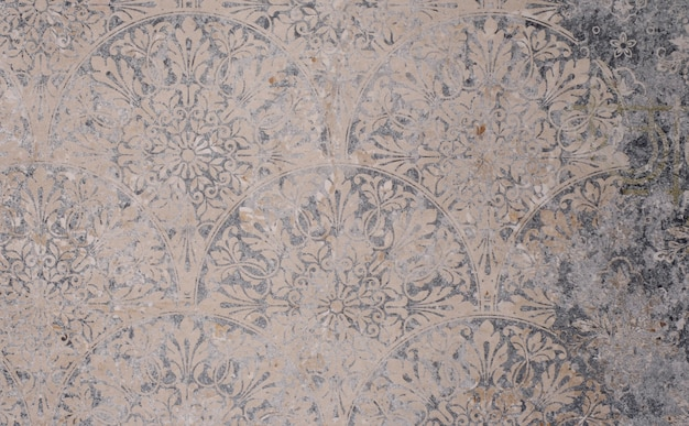 Vecchio grigio vintage squallido patchwork piastrelle pietra cemento cemento muro sfondo texture