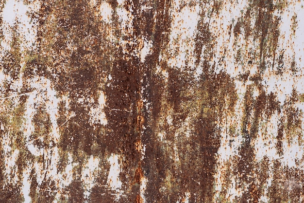 Vecchio uso rustico di struttura del metallo di lerciume per fondo.