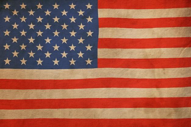 Vecchio grunge vintage weathered bandiera nazionale americana degli stati uniti sullo sfondo della bandiera