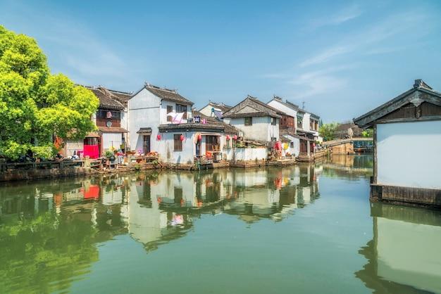 Vecchie case nella città antica di suzhou