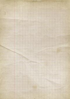 Vecchio sfondo di carta a righe