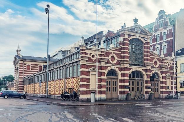 Old market hall, vanha kauppahalli nel centro di helsinki, finland
