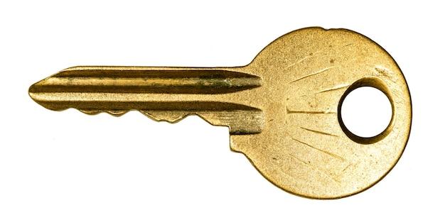 Vecchia chiave di metallo, foto ad alta risoluzione