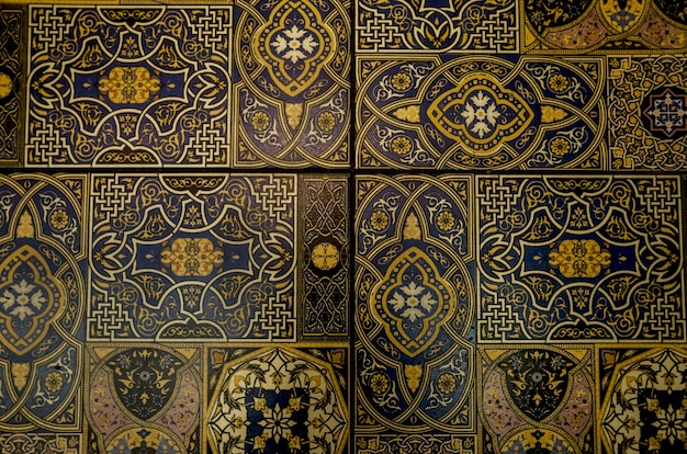 Vecchie piastrelle marocchine come sfondo