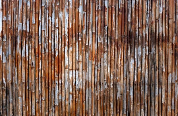 Vecchio backgronud arancione di struttura di bambù della tailandia