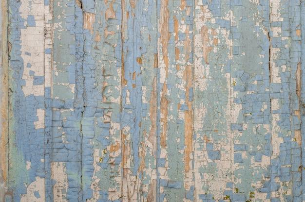 Vecchio legno dipinto con vernice incrinata