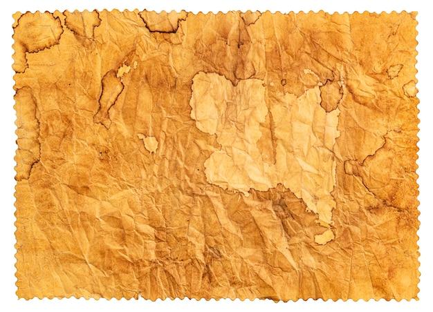 Vecchia struttura di carta, sfondo di carta vintage, carta antica con macchie di caffè marroni