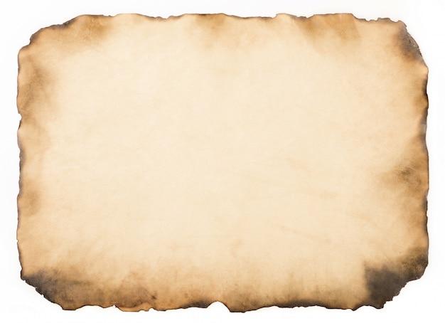 Vecchia annata di carta invecchiata o struttura su fondo bianco Foto Premium