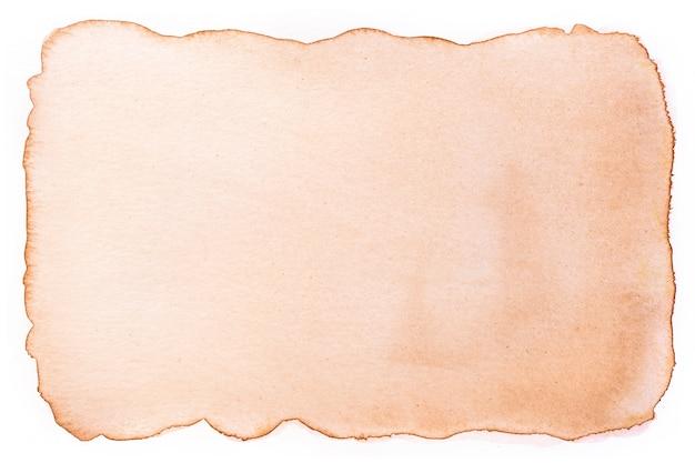 Vecchia carta vintage invecchiata con pittura ad acquerello.