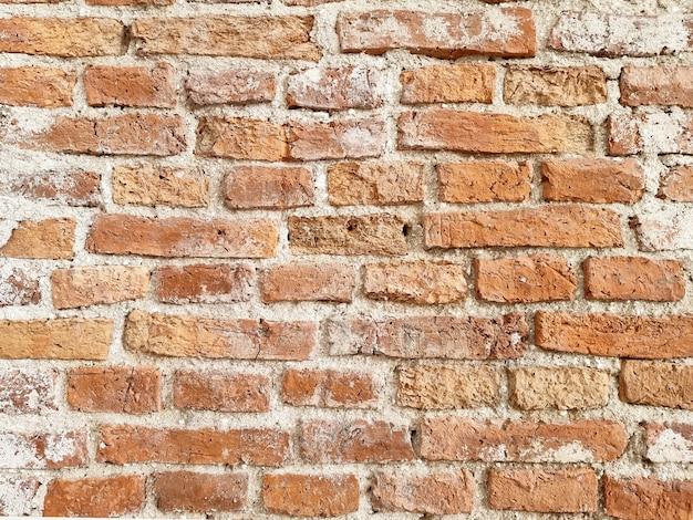 Vecchio fondo del muro di mattoni rossi