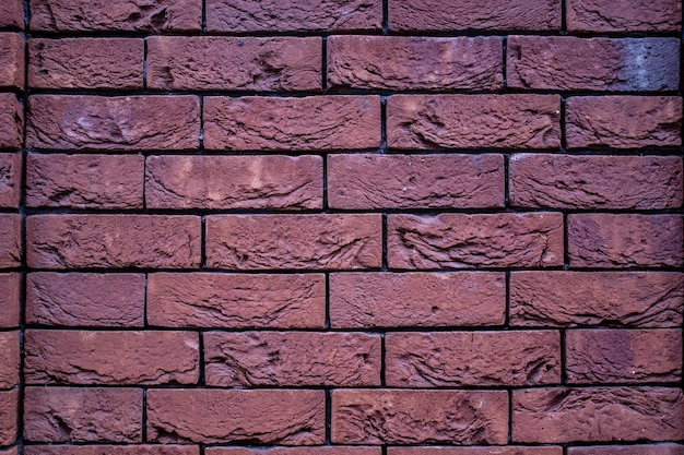 Vecchio fondo orizzontale di struttura del muro di mattoni rossi.