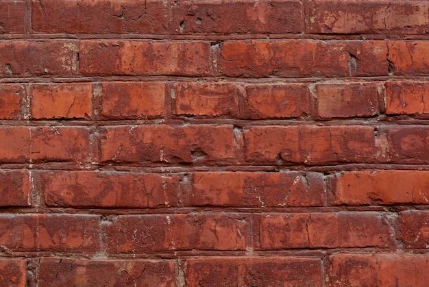 Vecchio fondo di struttura del muro di mattoni rossi si chiuda
