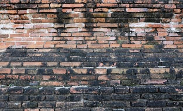 Vecchio fondo di lerciume di struttura del muro di mattoni rossi.