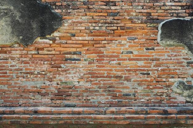 Vecchio grunge di struttura del muro di mattoni rossi