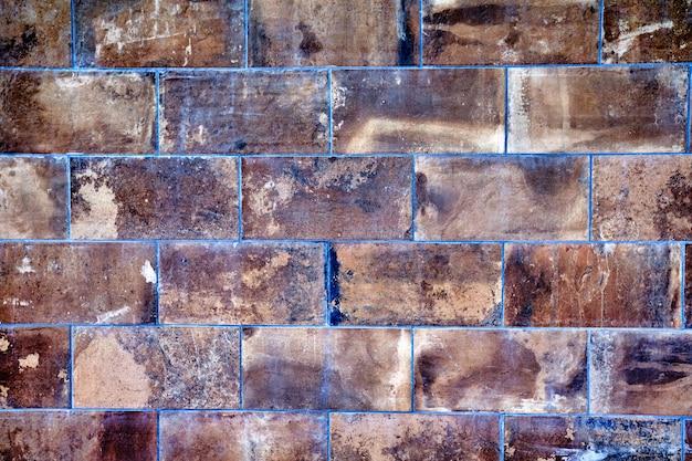 Vecchia struttura della parete di pietra della roccia
