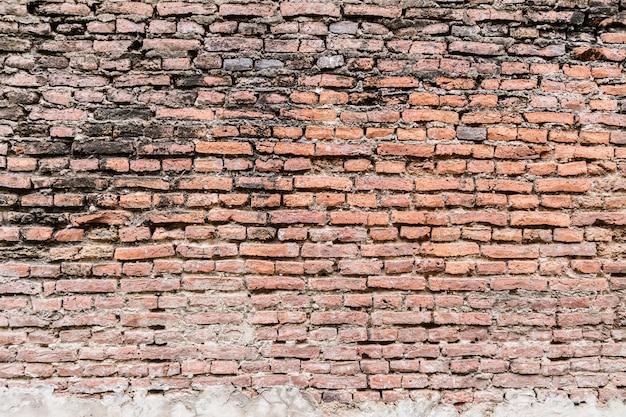Vecchio fondo di struttura del muro di mattoni rustico
