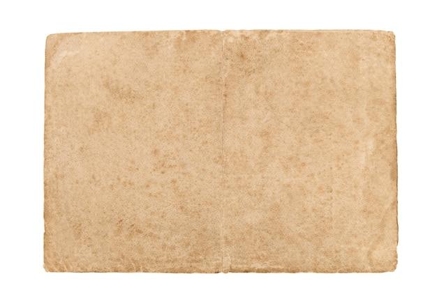 Vecchio foglio di carta isolato su uno sfondo bianco.