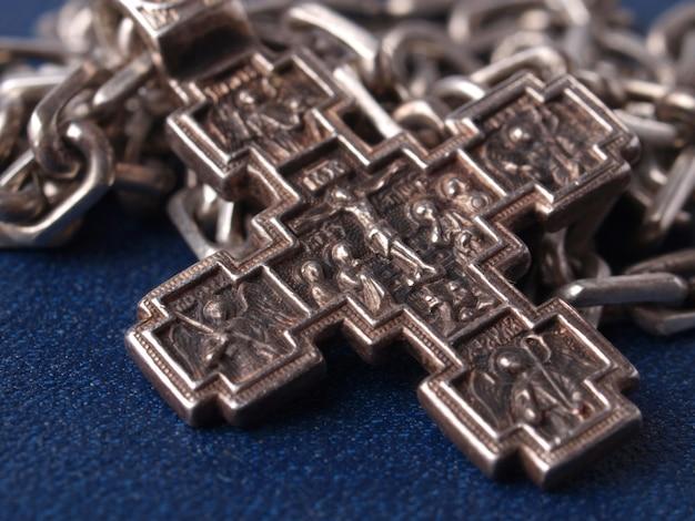 Vecchia croce d'argento