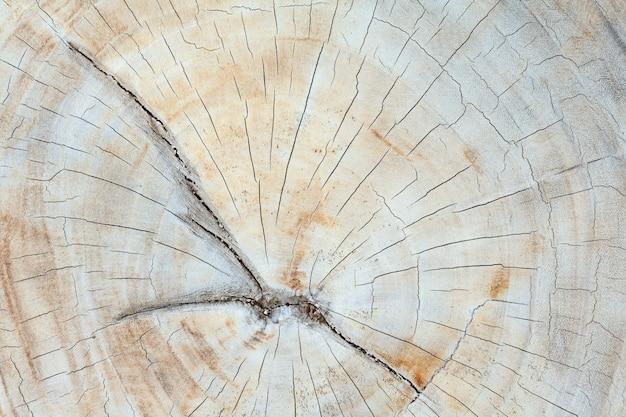Vecchia tavola di legno di teak con crepe