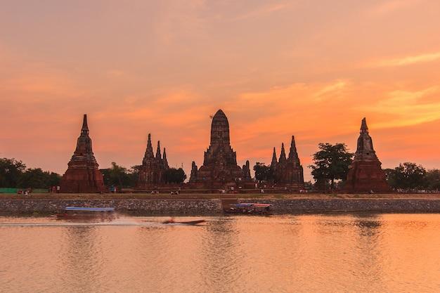 Wat chaiwatthanaram del vecchio tempio della provincia di ayutthaya