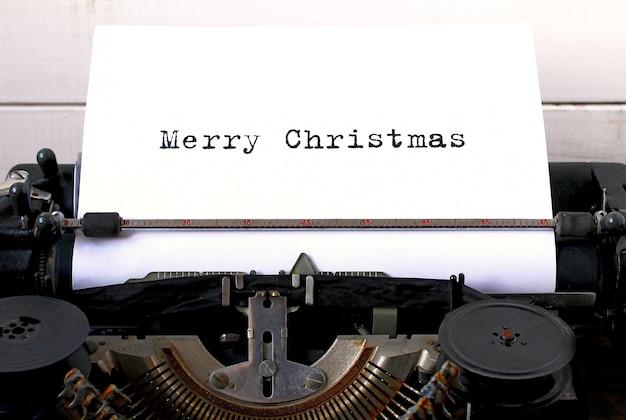 Vecchia macchina da scrivere buon natale