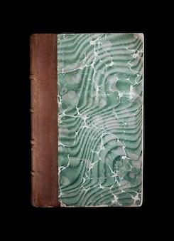 Vecchio libro vintage isolato su sfondo nero