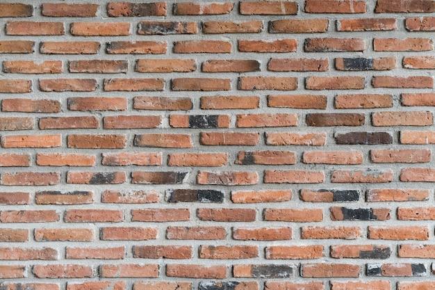 Vecchio muro di mattoni d'epoca.