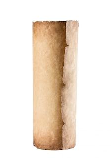 Vecchio rotolo vintage isolato su bianco