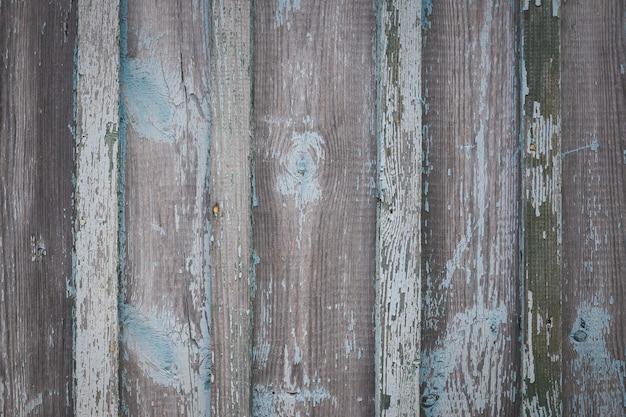 Vecchia struttura della parete di legno stagionata di colore turchese