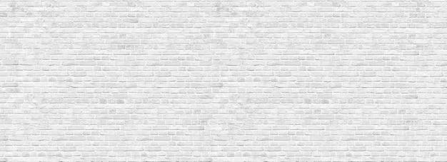 Vecchio sfondo muro di mattoni bianchi, ampio panorama della muratura