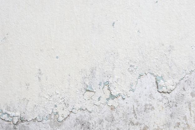 Vecchio fondo di struttura del muro di cemento della vernice bianca Foto Premium